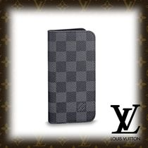 18SS【LOUIS VUITTON】IPHONE X・フォリオ ダミエ・グラフィット