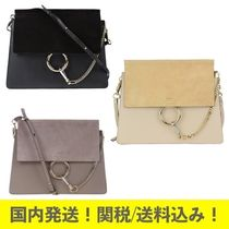 関税送料込!Faye bag in smooth leather and suede