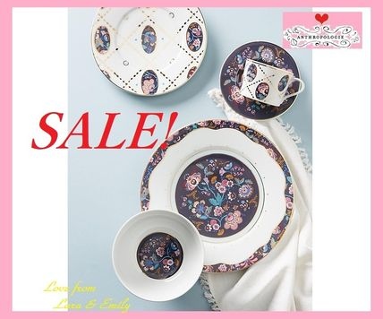 Anthropologie 食器(皿) 最終SALE☆ラス1即納【Liberty×Anthro】Mabelle Floral 4点Set