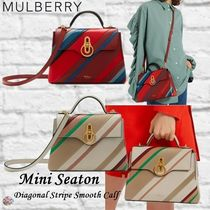Mulberry☆Mini Seaton-Diagonal Stripe Smooth Calf-
