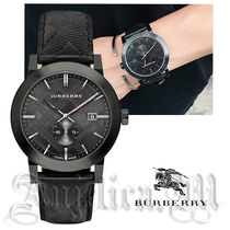 Burberry(バーバリー) アナログ時計 ★安心ヤマト便★Burberry THE CITY Black Leather Strap BU9906