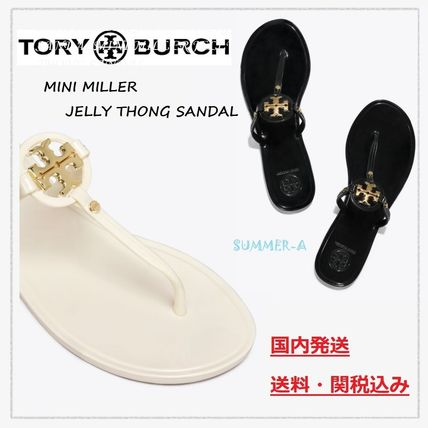 【Tory Burch】金ロゴが素敵☆MINI MILLER JELLY THONGサンダル