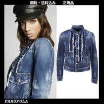 DSQUARED2 Butch Ruffled Denim Jacket フリル付き