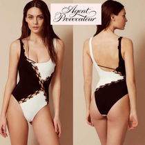 Agent Provocateur(エージェントプロヴォケイター ) ワンピース水着 国内発送 モノトーンカラーの編み上げセクシースイムスーツ