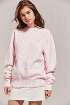 HVN for Urban Outfitters Gingham Crew-Neck Sweatshirt