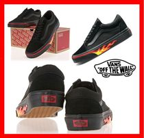 18SS★人気【VANS】★ OLD SKOOL FLAME WALL BLACK ★