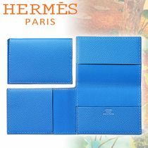 HERMES エルメス カードケース Guernesey 三つ折り ブルー