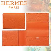 HERMES エルメス カードケース Guernesey 三つ折り オレンジ