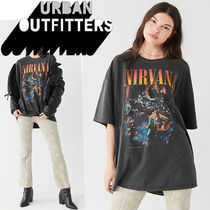 Urban Outfitters(アーバンアウトフィッターズ) Tシャツ・カットソー ● Urban Outfitters ●人気 Nirvana バンド Tシャツ 黒