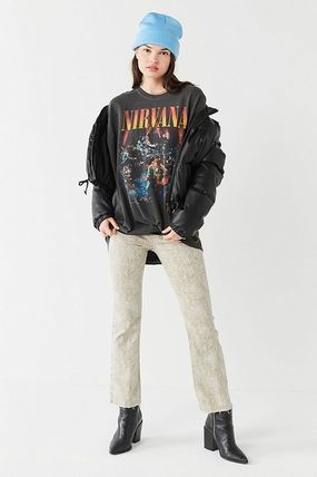 Urban Outfitters Tシャツ・カットソー ● Urban Outfitters ●人気 Nirvana バンド Tシャツ 黒(5)