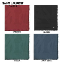 【正規品保証】SAINT LAURENT★18春夏★LARGE YSL SQUARE SCARF