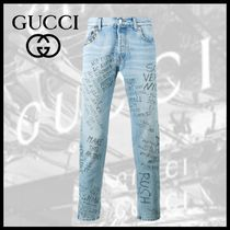 GUCCI プリント スキニージーンズ