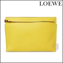 【LOEWE(ロエベ)】 T two-tone leather pouch