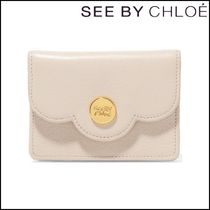 【See by Chloe】Polina mini scalloped textured-leather