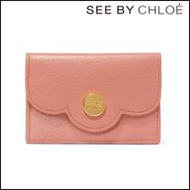 【See by Chloe】 Polina scalloped textured-leather wallet