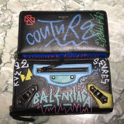 VIPセール☆関税込【BALENCIAGA】Graphic Zip Around Wallet