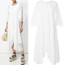 18SS C317 TABLECLOTH DETAIL LACE DRESS WITH HANDKERCHIEF HEM