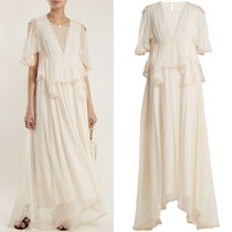 18SS C318 PEPLUM TOP SILK CREPON GOWN