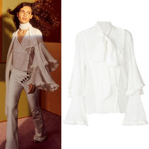 18SS C320 LOOK5 CREPON BLOUSE WITH TIERED SLEEVES