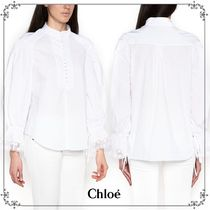国内発送・関税込CHLOE'  LACE CAFFS SHIRTS