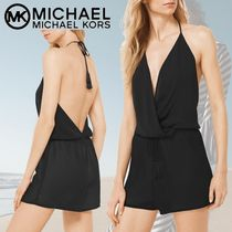 18SS★Michael Kors Halter Top Jumpsuitホルターネックタンキニ