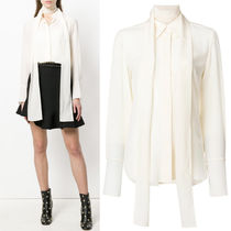 18SS C328 SILK CREPE BLOUSE WITH SCALF
