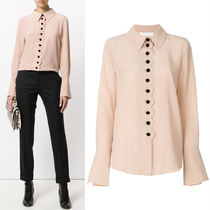 18SS C330 SILK CREPE BLOUSE WITH SCALLOP DETAIL