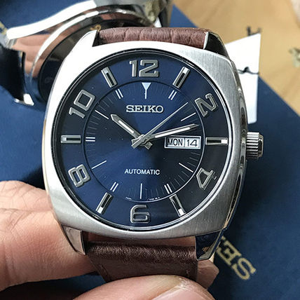 new styles b165d 28209 【技術と信頼のSEIKO逆輸入】Automatic Blue Dial Watch SNKN37