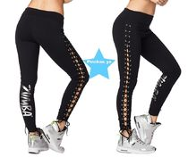 H30.3月新作【ZUMBA】ズンバ Zumba Laced Up Leggings Z1B00716