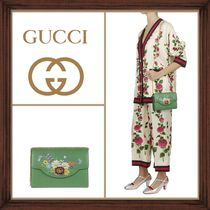 ★★GUCCI《グッチ》 FLOWER PRINT SHOULDER BAG  送料込み★★