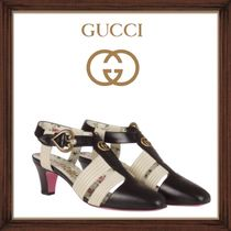 ★GUCCI《グッチ》 LEATHER MID-HEEL T-STRAP 送料込み★