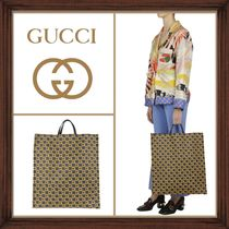 ★GUCCI《グッチ》 SUPREME CANVAS SQUARE G TOTE  送料込み★