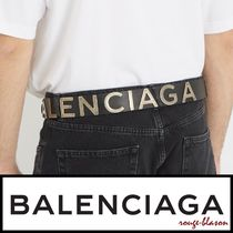 【国内発送】Balenciaga ベルト Logo-embellished leather belt