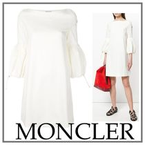 【18SS】MONCLER(モンクレール)ベルスリーブ ワンピース White