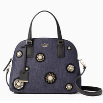 KATE SPADE EMBELLISHED DENIM LOTTIE 2WAYハンド PXRU8348 930
