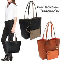 Ralph Lauren* Reversible Faux-Leather Tote リバーシブル