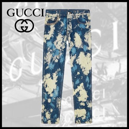 new style 4efae 57bf7 GUCCI ブリーチ加工 ジーンズ