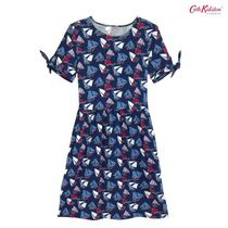 Cath Kidston☆VISCOSE ELASTANE DRESS LITTLE WHITBY WATERS