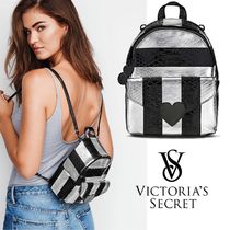 ★ Cool Luxe Python Stripe Mini City Backpack ★ VS