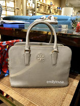 SALE☆TORY BURCH★MARION TRIPLE ZIP SATCHEL*FRENCH GRAY
