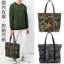国内在庫・即納可能Ralph Lauren Camo Canvas Big Pony Tote