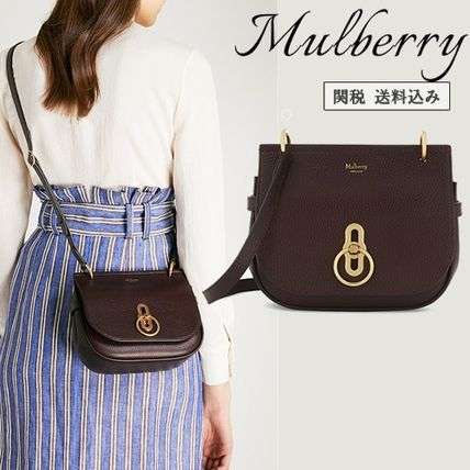 Mulberry ショルダーバッグ・ポシェット 関税・送込【Mulberry】grained レザーショルダーバッグ