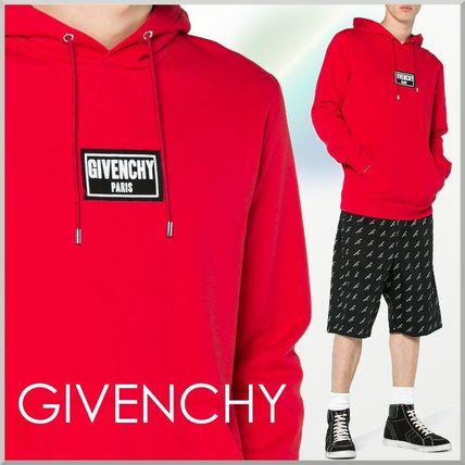 18SS★GIVENCHY ロゴ パッチ付き ダメージ加工 パーカー