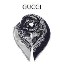 """GUCCI """"Blind for Love"""" ジャカード スカーフ 4735224G646"""