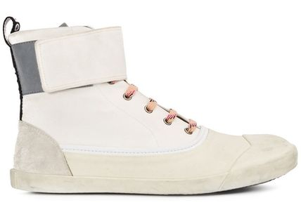 LANVIN 靴 Basket Mid Strapped Sneakers スニーカー