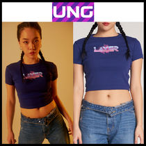 UNG layer(ユーエヌジーレイヤー) トップスその他 韓国の人気★UNG LAYER★LAYER_BLUE_CROP TOP 1色★