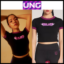 UNG layer(ユーエヌジーレイヤー) トップスその他 韓国の人気★UNG LAYER★DROING DOLL_CROP TOP 1色★