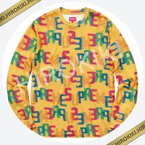 【18SS】Supreme Letters L/S Top ロンT ロングスリーブ Yellow