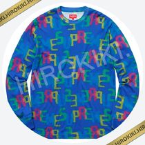 【18SS】Supreme Letters L/S Top ロンT ロングスリーブ Blue 青