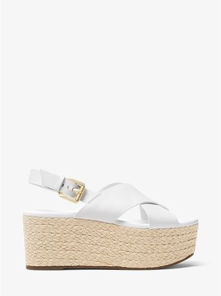 Michael Kors サンダル・ミュール 【Michael Kors】Jodi Leather Espadrille Wedge 新作★厚底(2)